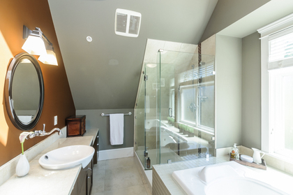 Master Ensuite - Beautiful glass frameless shower at 876 West 23rd Avenue, Cambie, Vancouver West