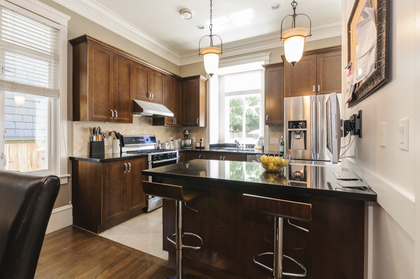 Large Kitchen Penninsula with eating bar at 876 West 23rd Avenue, Cambie, Vancouver West