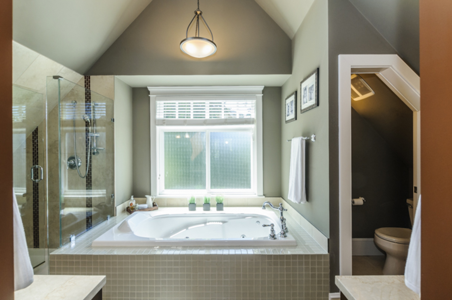 Master Ensuite - Jetted Bathtub! at 876 West 23rd Avenue, Cambie, Vancouver West