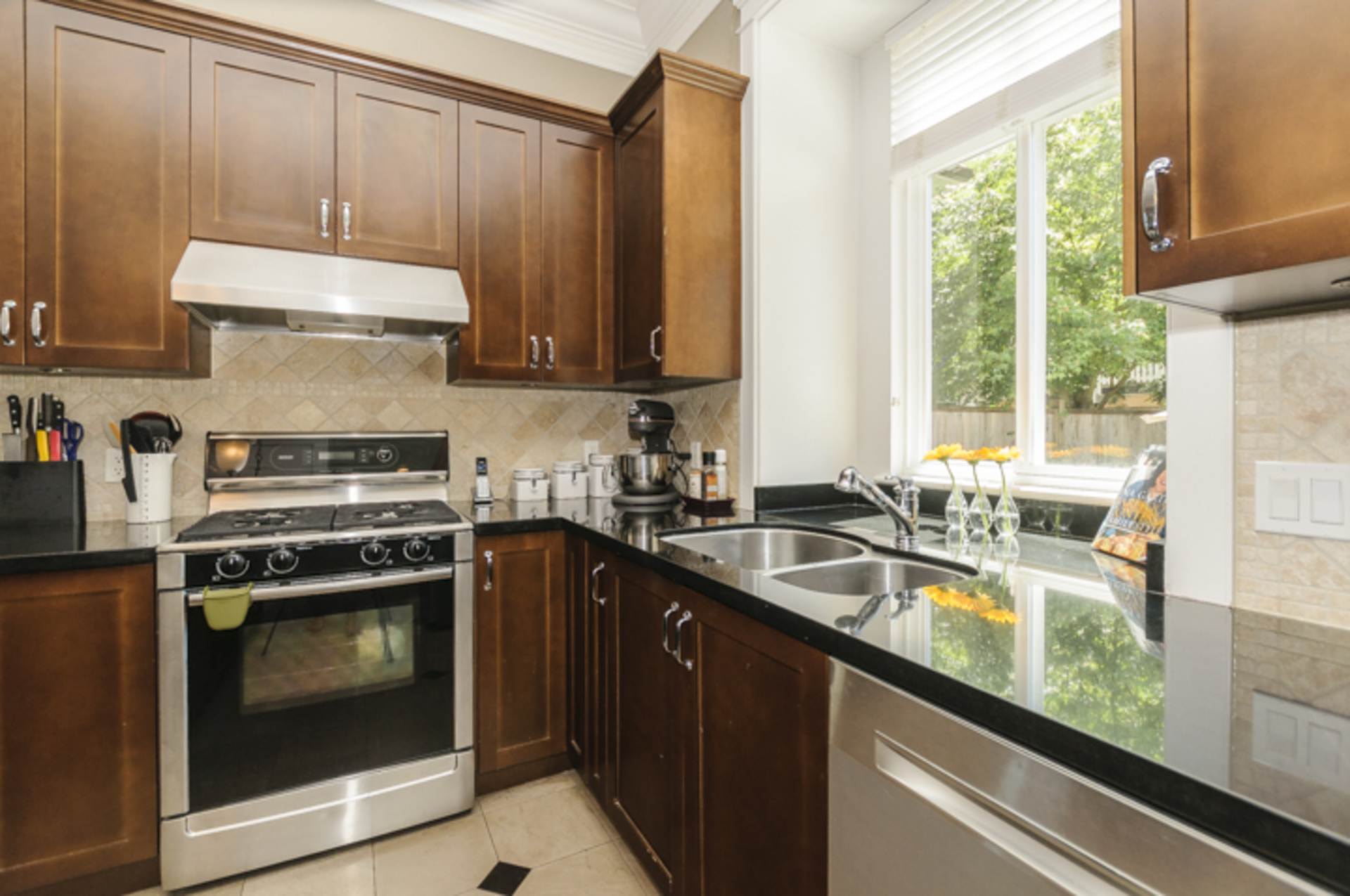Kitchen - Black granite countertops at 876 West 23rd Avenue, Cambie, Vancouver West