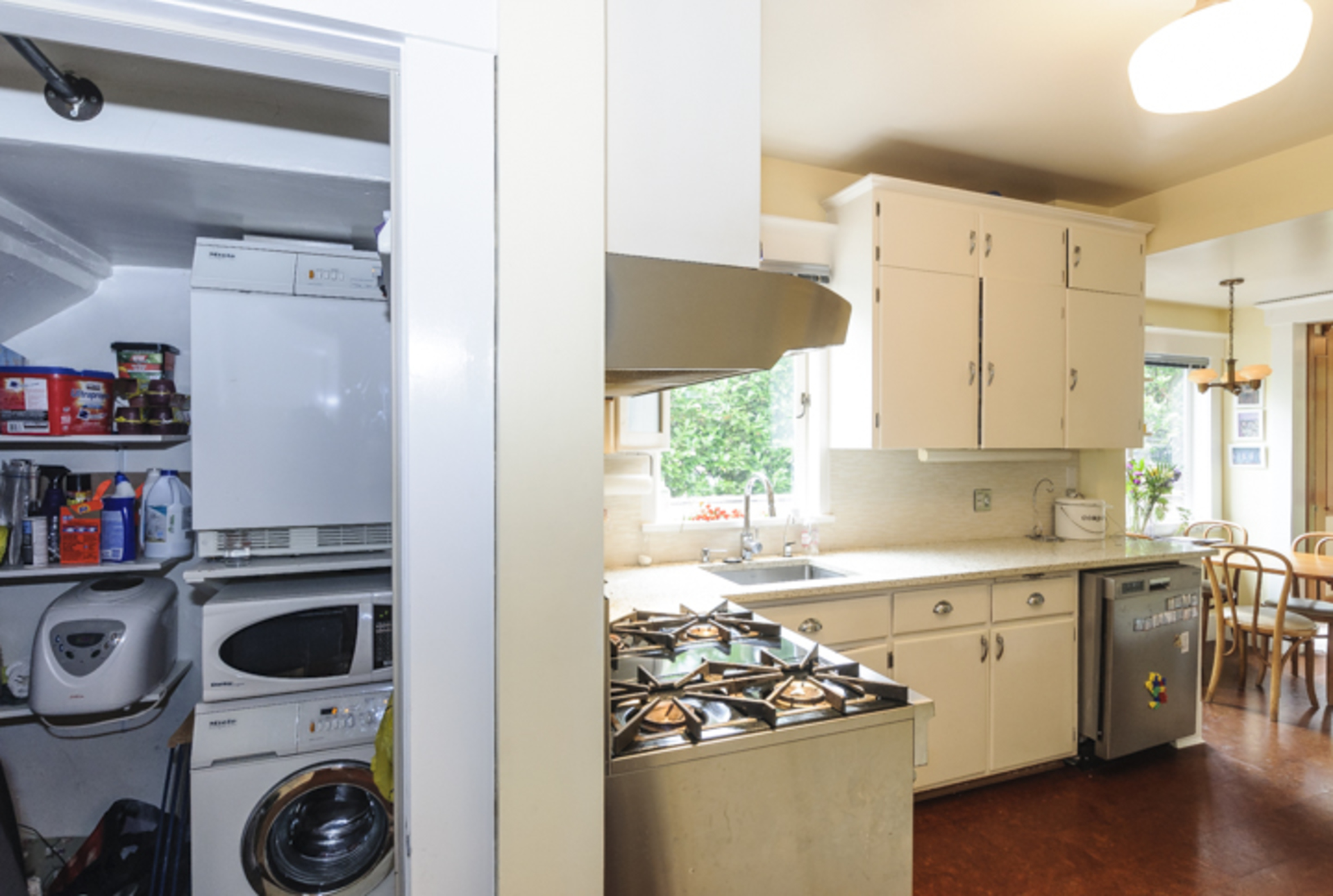 Main level suite has thier own laundry at 2617 West 7th Avenue, Kitsilano, Vancouver West