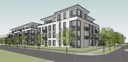 Exterior Rendering at 401 - 288 West King Edward Avenue, Cambie, Vancouver West
