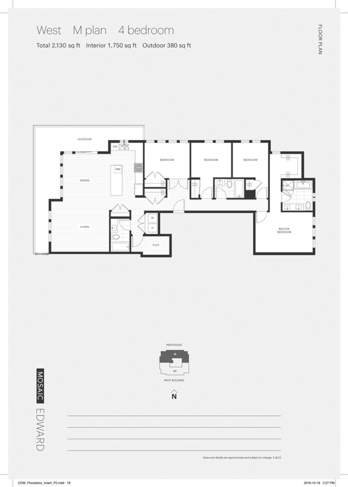 Edward Floorplan - Unit 401 West at 401 - 288 West King Edward Avenue, Cambie, Vancouver West