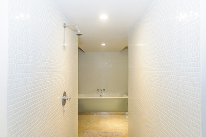 Ultra cool walk through shower at 314 - 55 East Cordova Street, Downtown VE, Vancouver East