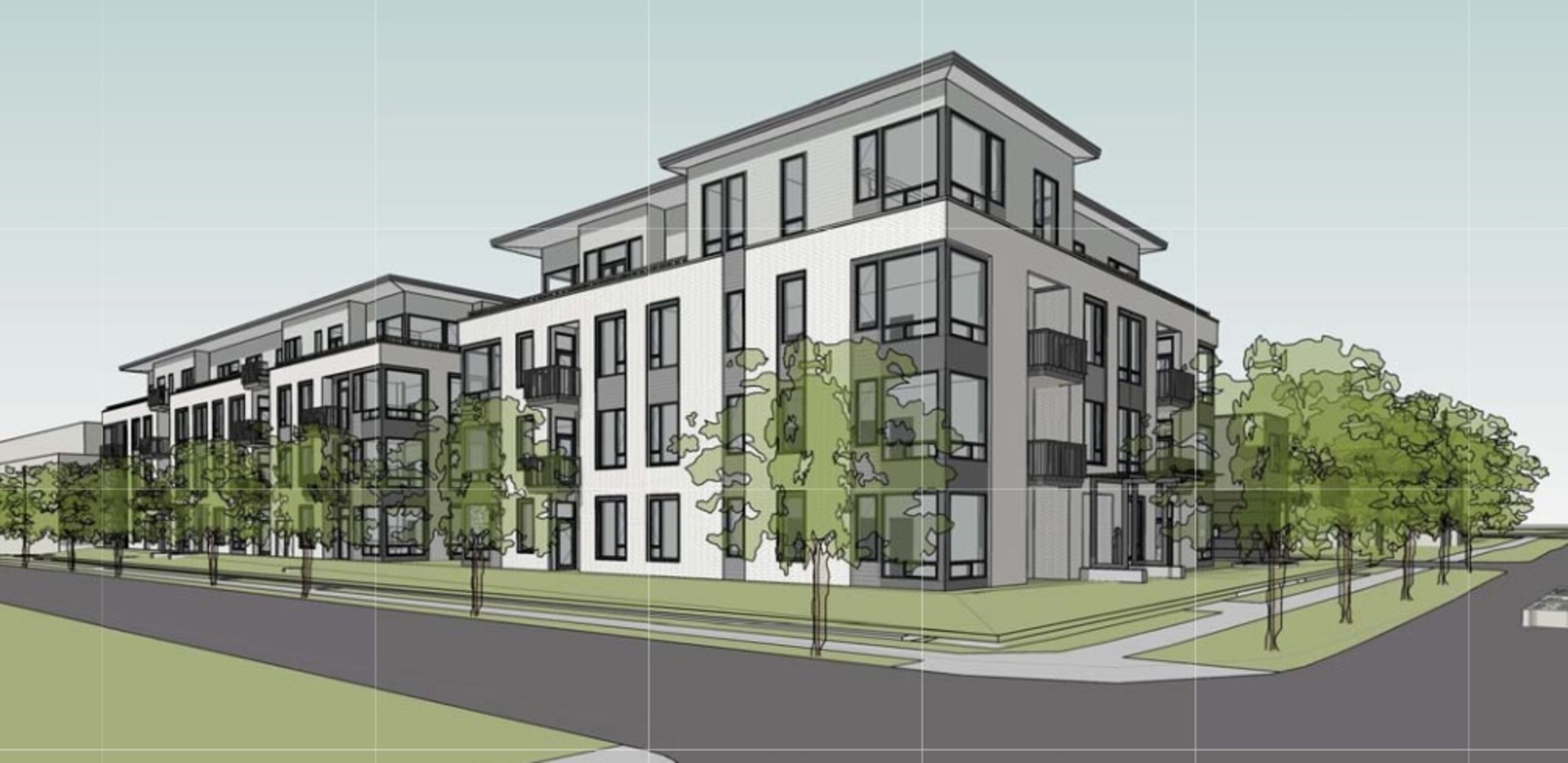 Rendering of the building at 405 - 288 West King Edward Avenue, Cambie, Vancouver West