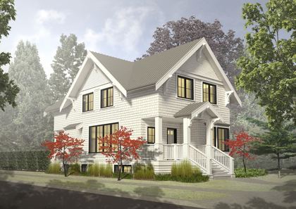 Rendering of Traditional design option at 2595 West 14th Avenue, Kitsilano, Vancouver West