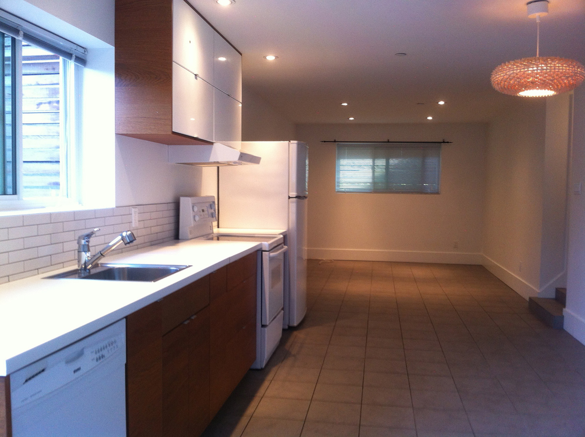 Suite - kitchen-living at 481 West 18th Avenue, Cambie, Vancouver West