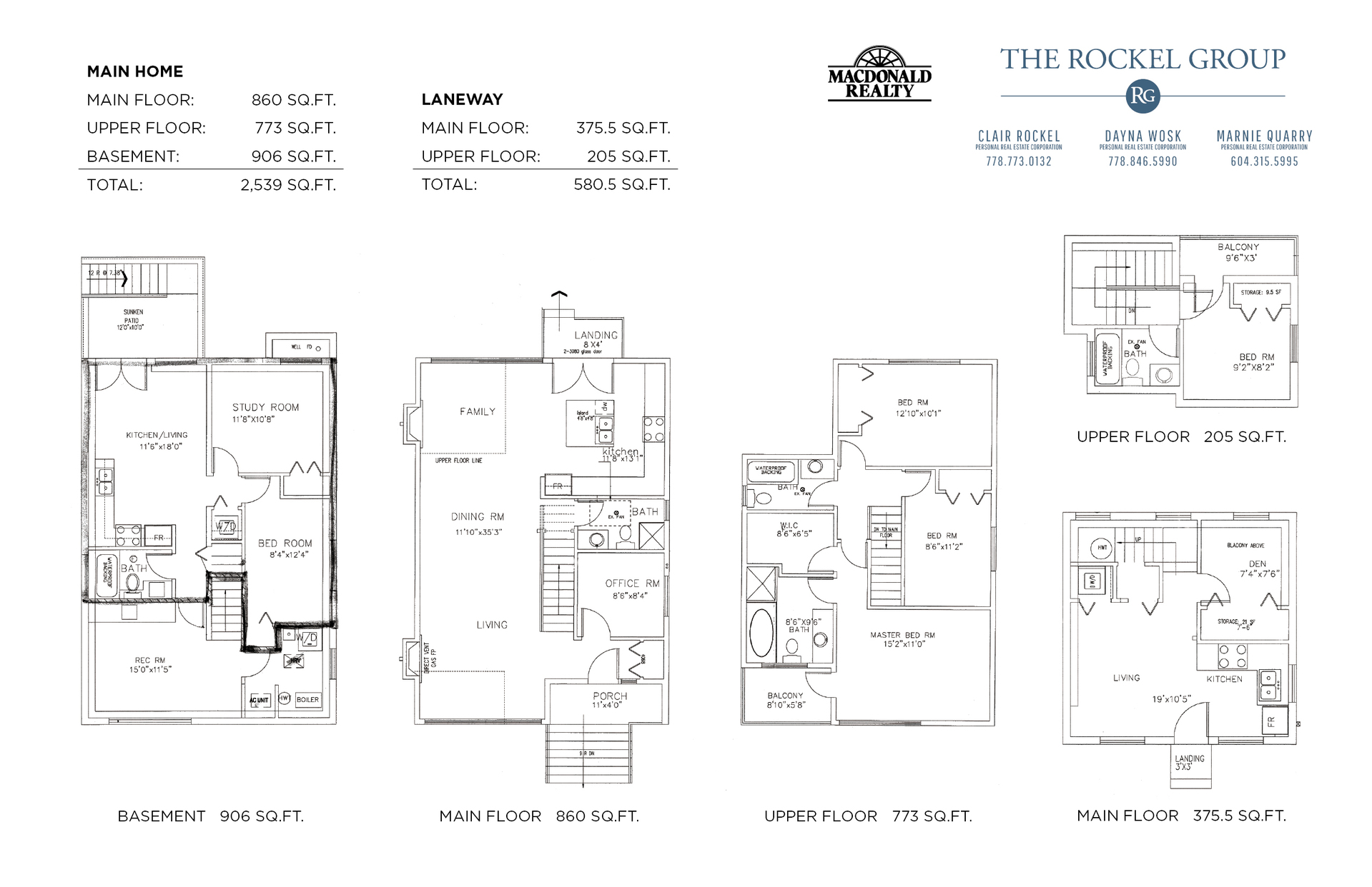 Floorplans at 2614 East 18th Avenue, Renfrew Heights, Vancouver East