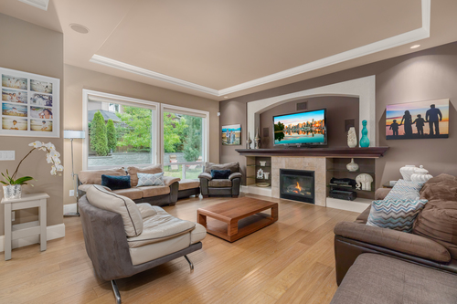 2-great-room-with-tv at 2550 163a Street, Grandview Surrey, South Surrey White Rock