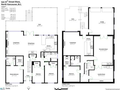 floorplan-1 at 533 West 20th Street, Hamilton, North Vancouver
