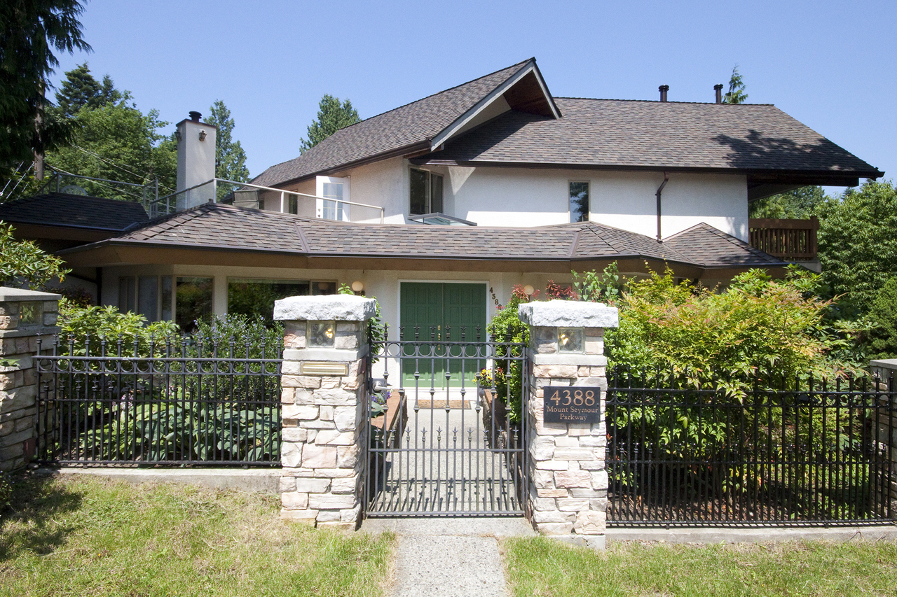 Front Exterior at 4388 Mount Seymour Parkway, Dollarton, North Vancouver