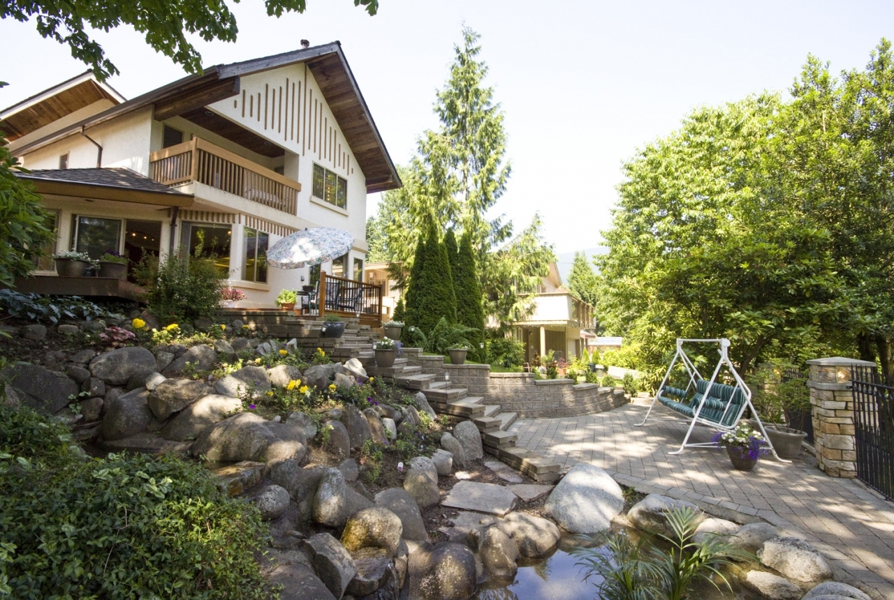 Rear Exterior at 4388 Mount Seymour Parkway, Dollarton, North Vancouver