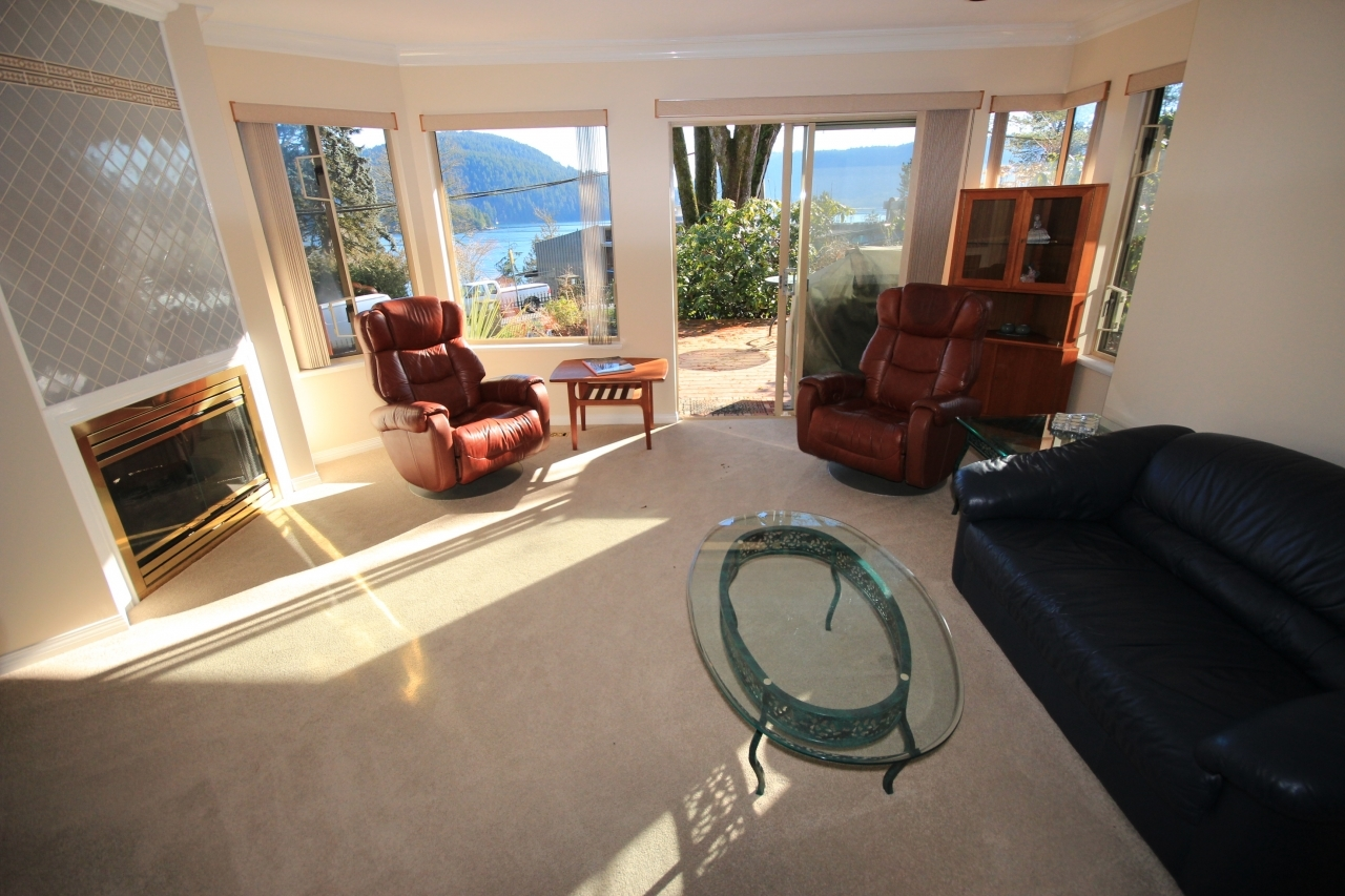 Living Room at 4388 Mount Seymour Parkway, Dollarton, North Vancouver