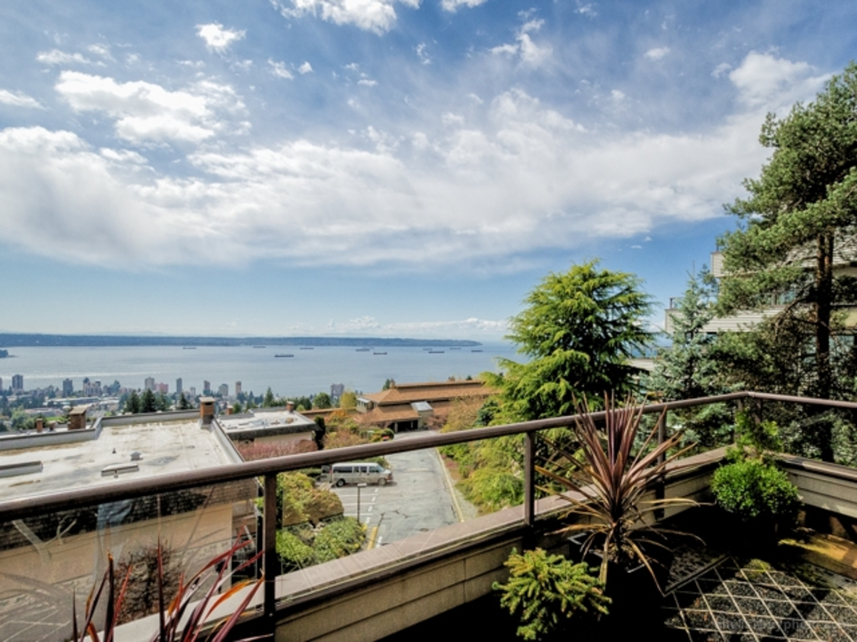 Deck View 1  at 30 - 2250 Folkestone Way, Panorama Village, West Vancouver