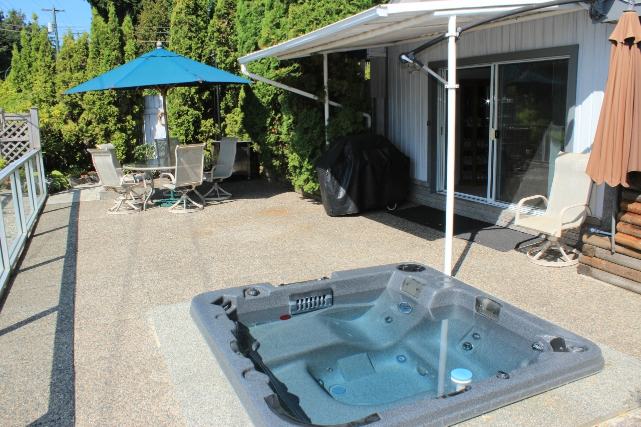 Patio at 3760 Dollarton Highway, Roche Point, North Vancouver