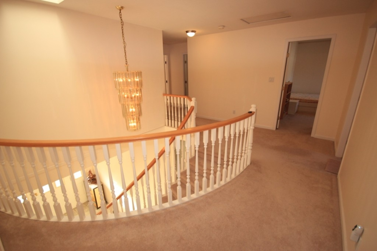 Staircase at 2630 Tempe Knoll Drive, Tempe, North Vancouver