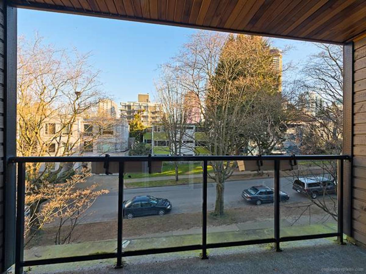 Covered deck North facing at 308 - 1550 Barclay Street, West End VW, Vancouver West