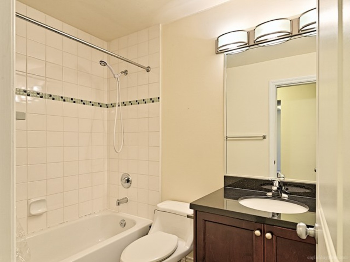 Bright bathroom at 308 - 1550 Barclay Street, West End VW, Vancouver West