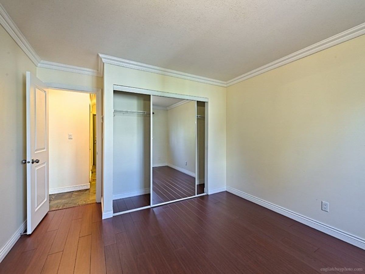 Bedroom with good closet size at 308 - 1550 Barclay Street, West End VW, Vancouver West