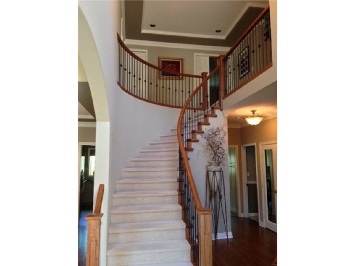 Staircase at 1647 Orkney Place, Northlands, North Vancouver