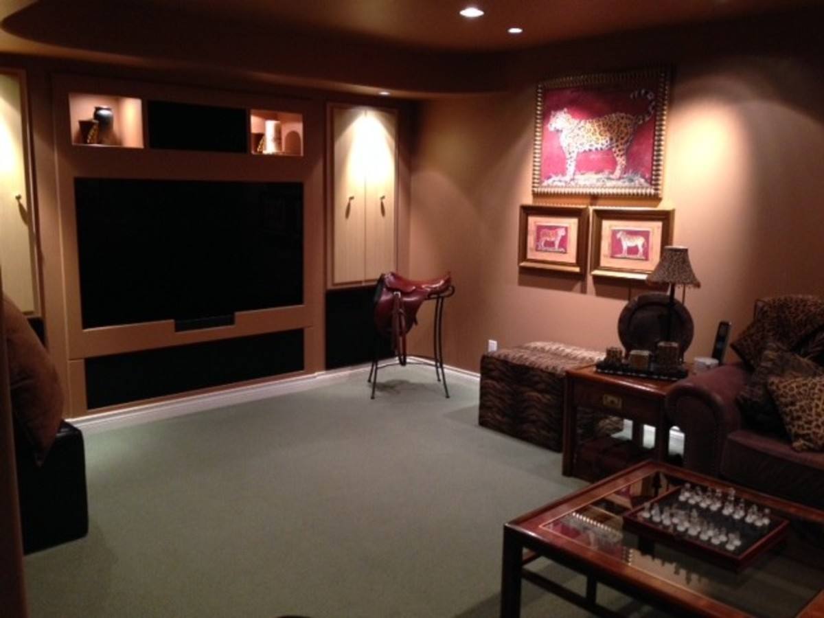 Media Room at 1647 Orkney Place, Northlands, North Vancouver
