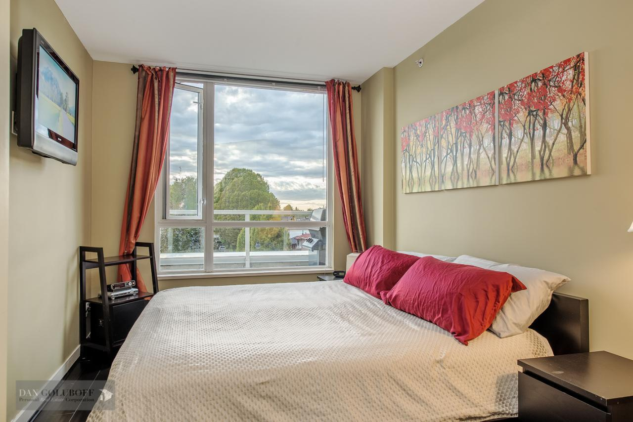 Bright Master Bedroom at 302 - 4078 Knight Street, Knight, Vancouver East