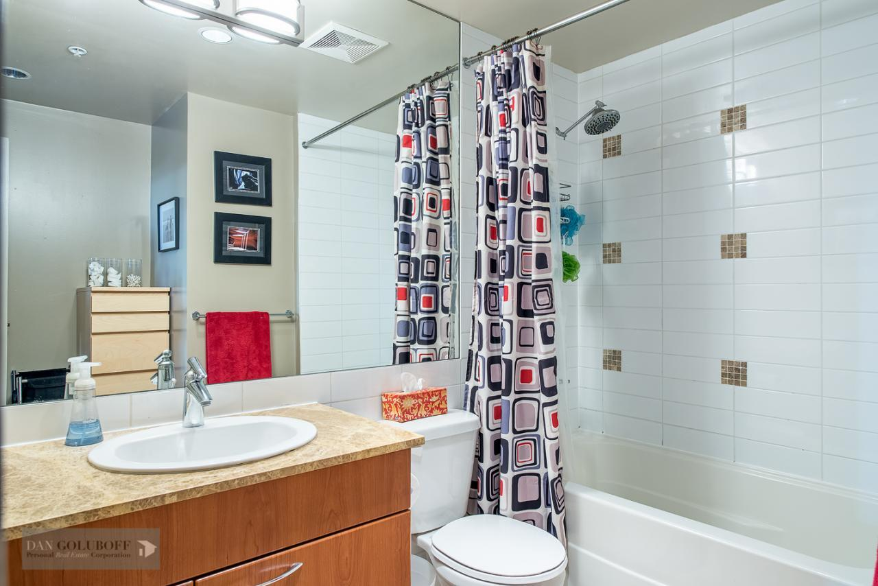 master ensuite Bathroom at 302 - 4078 Knight Street, Knight, Vancouver East