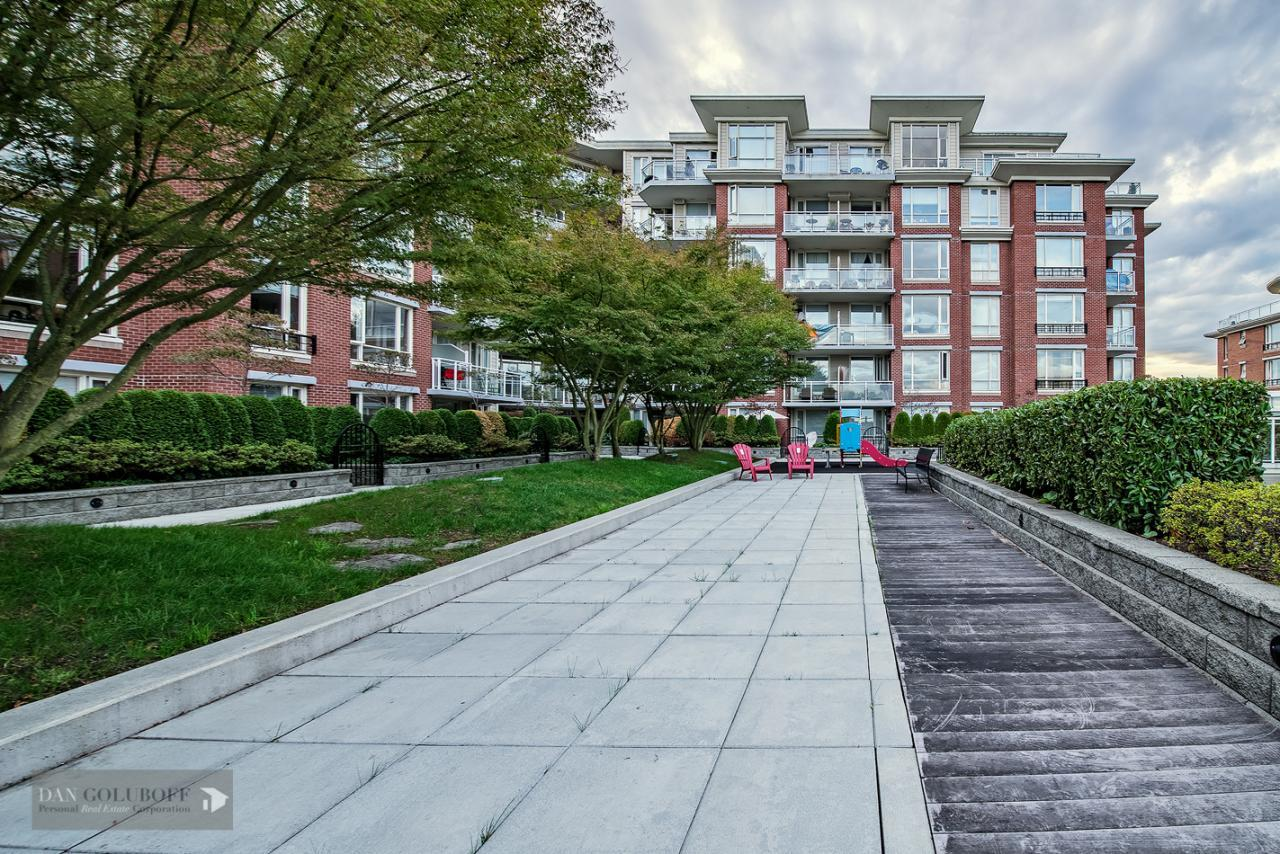 Secured courtyard and playground same floor as gym at 302 - 4078 Knight Street, Knight, Vancouver East