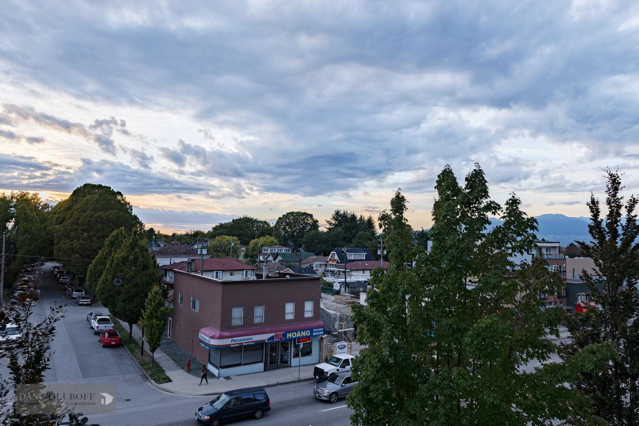 Mountain views at 302 - 4078 Knight Street, Knight, Vancouver East