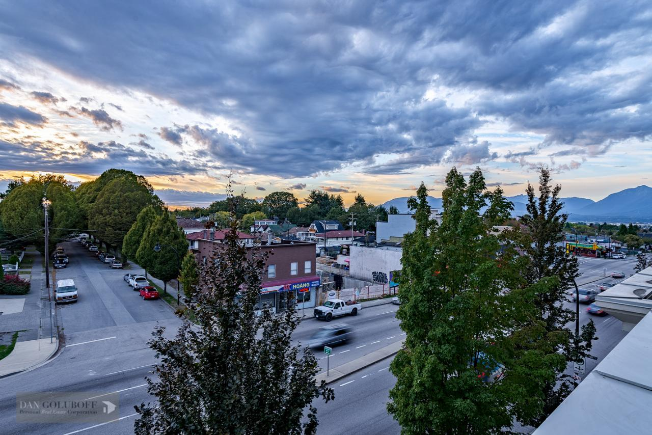Expansive views from deck at 302 - 4078 Knight Street, Knight, Vancouver East