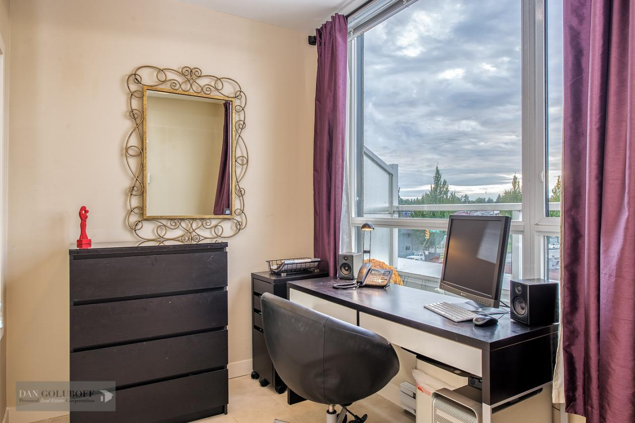 Den/office or 3rd bedroom at 302 - 4078 Knight Street, Knight, Vancouver East