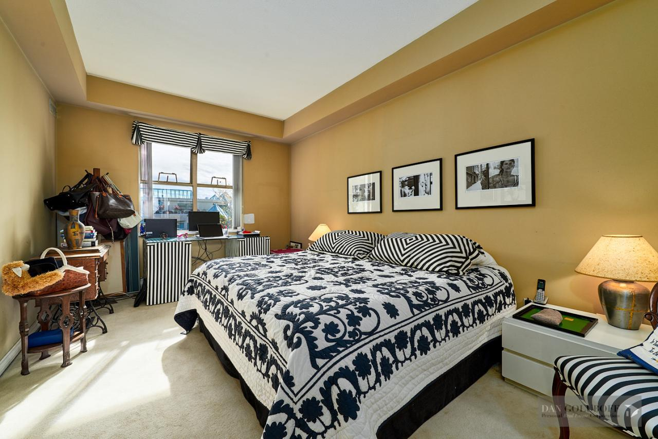 Modern West Van Condo - Master Bedroom at 306 - 1765 Marine Drive, Ambleside, West Vancouver