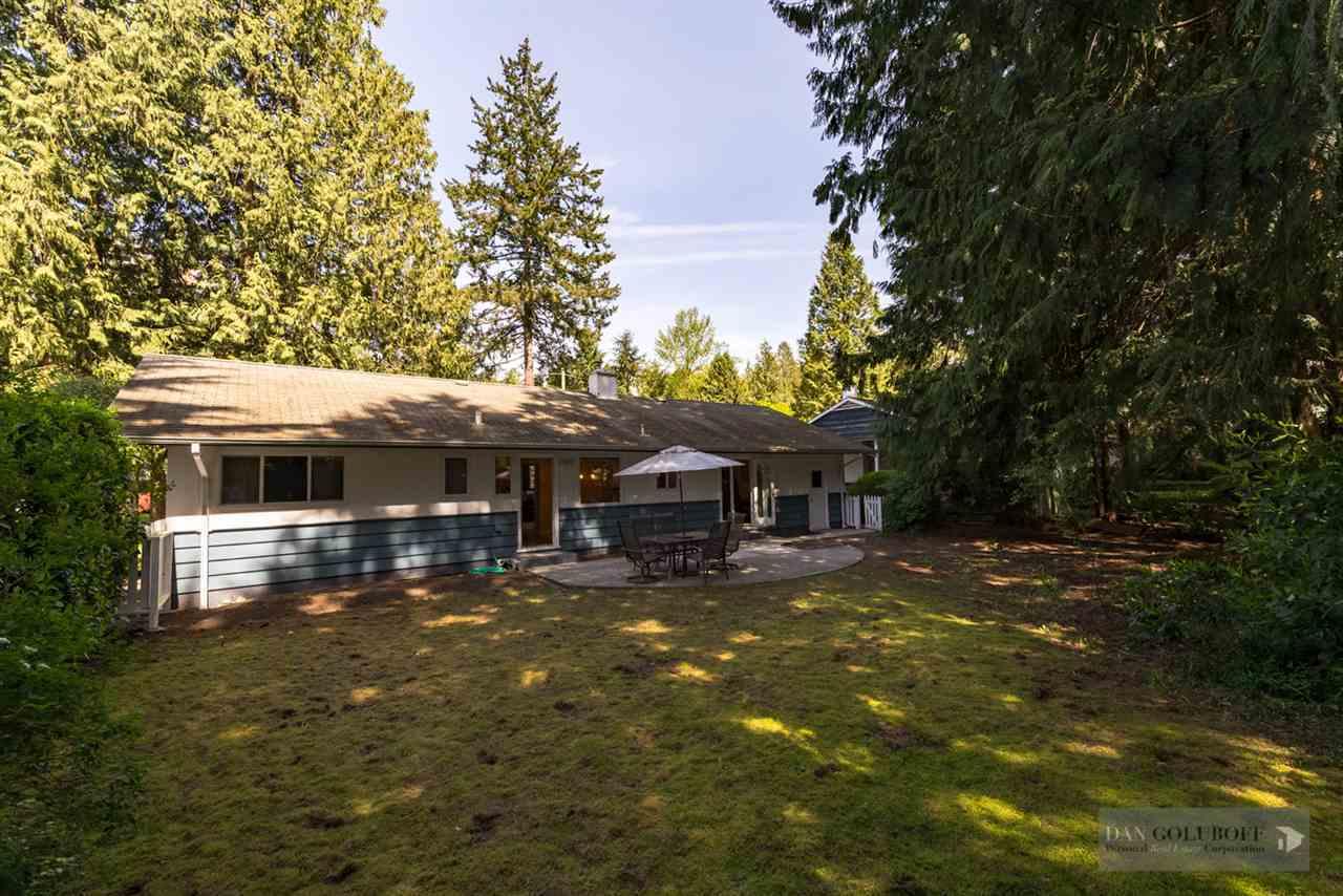 1963 Glenaire Drive North Vancouver Backyard at 1963 Glenaire Drive, Pemberton NV, North Vancouver