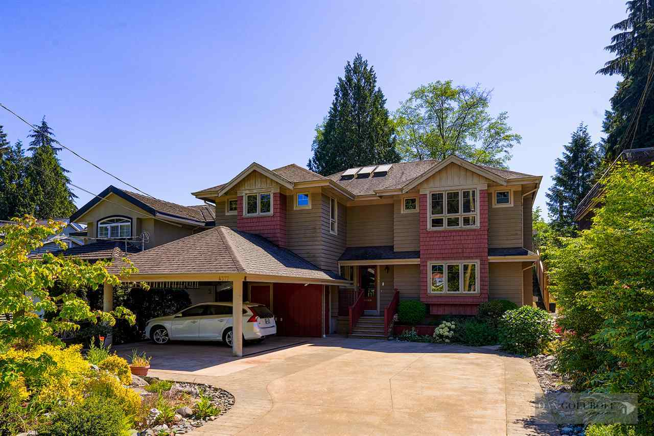 Deep Cove Custom Home - Exterior Front view at 4377 Raeburn Street, Deep Cove, North Vancouver
