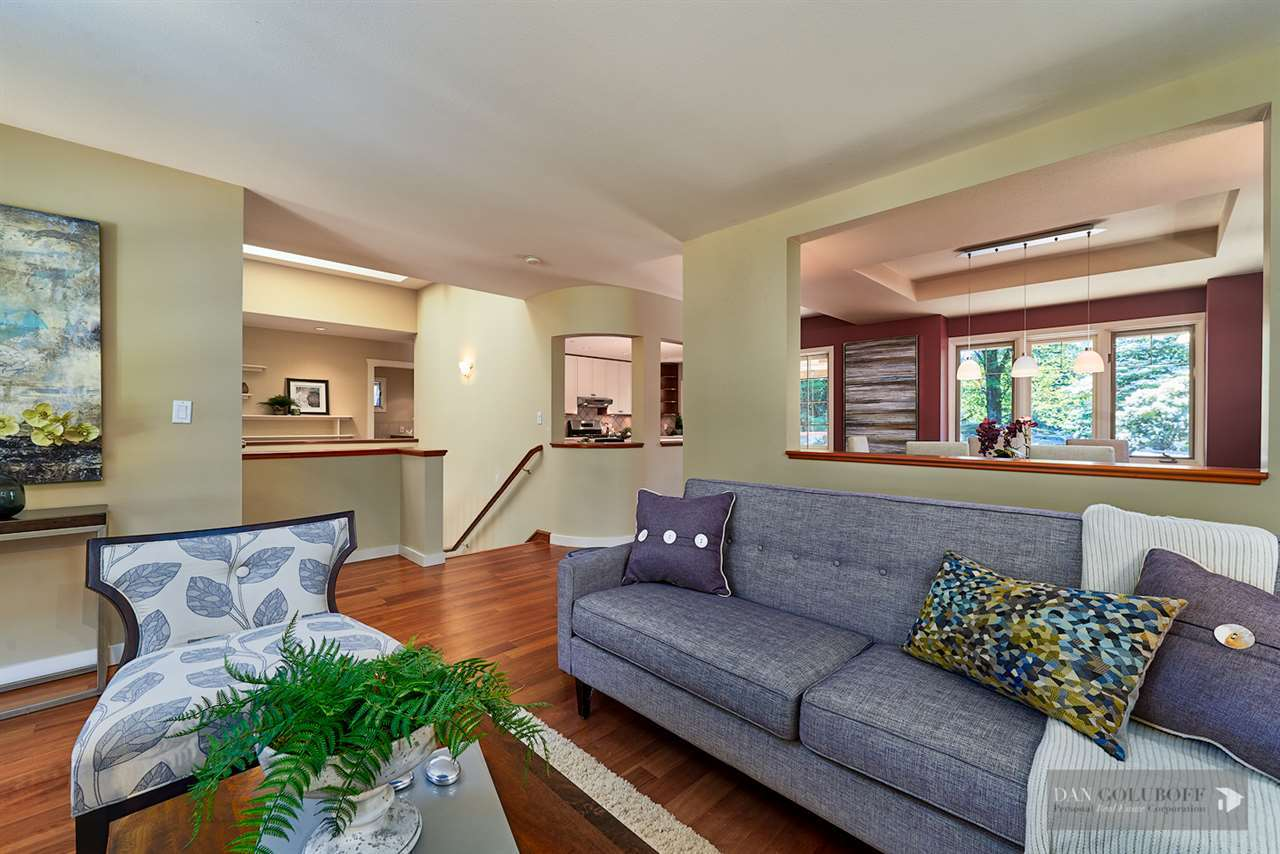 Deep Cove Custom Home - Living Area at 4377 Raeburn Street, Deep Cove, North Vancouver