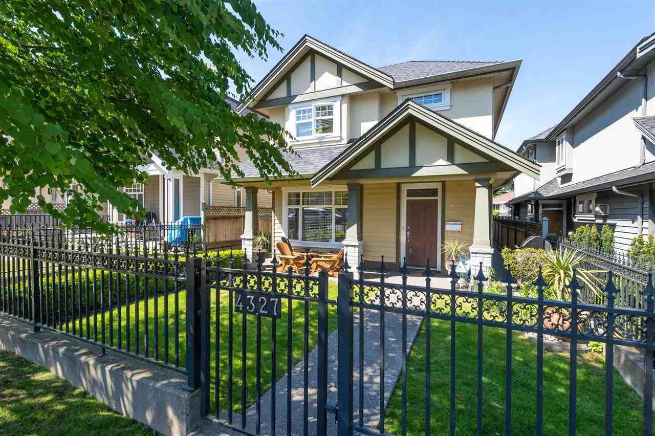 Bright Duplex Burnaby back yard with verandah at 4327 Albert Street, Vancouver Heights, Burnaby North