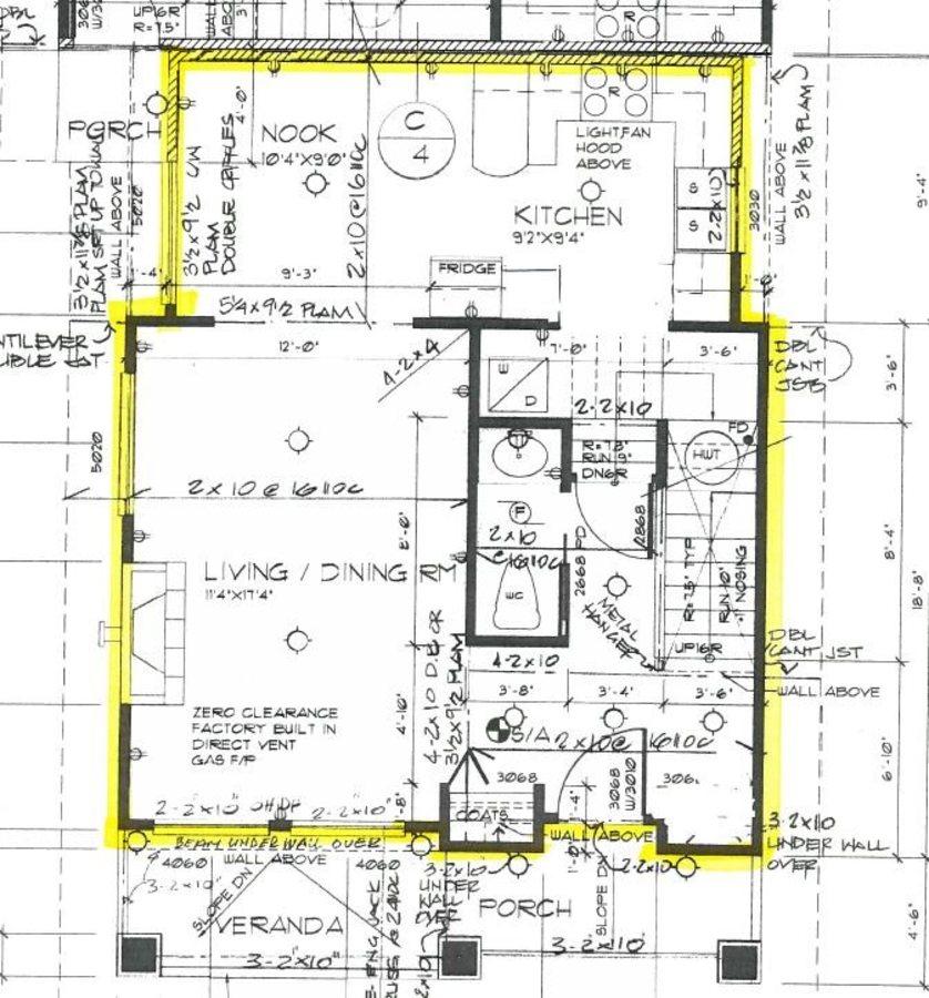 Bright Duplex  Burnaby floor plan main  at 4327 Albert Street, Vancouver Heights, Burnaby North