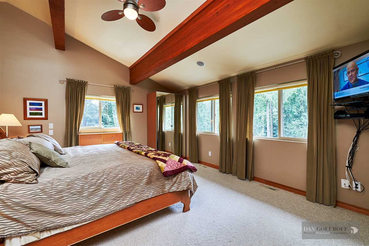 North Vancouver Custom 3 Level - Master Bedroom at 1880 Riverside Drive, Seymour NV, North Vancouver
