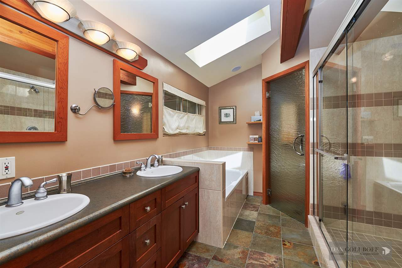 North Vancouver Custom 3 Level - Master Ensuite at 1880 Riverside Drive, Seymour NV, North Vancouver