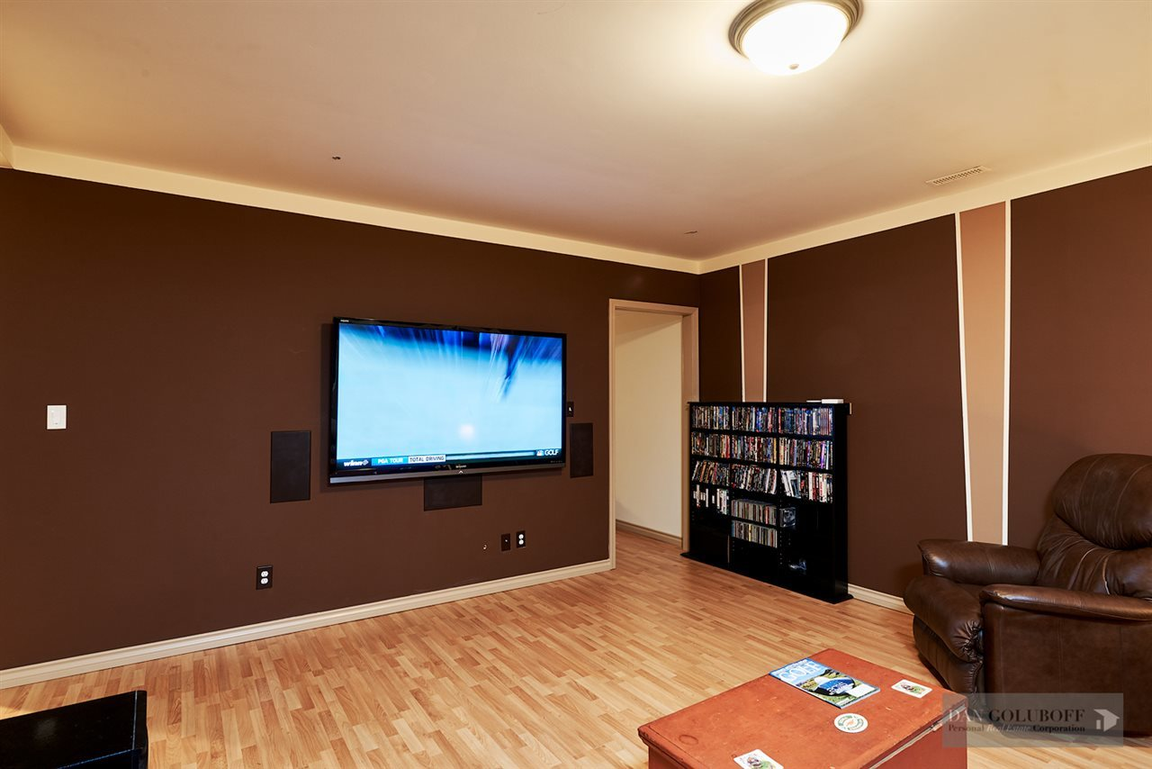 North Vancouver Custom 3 Level - Media Room at 1880 Riverside Drive, Seymour NV, North Vancouver