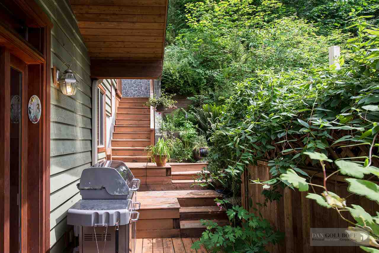 North Vancouver Custom 3 Level - Back Outdoor BBQ at 1880 Riverside Drive, Seymour NV, North Vancouver