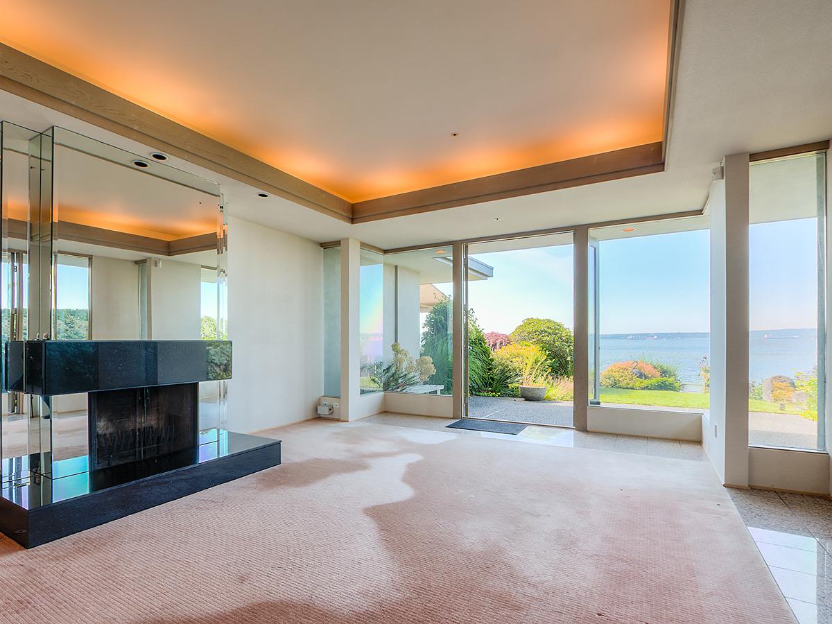 Living room at 2456 Bellevue Avenue, Dundarave, West Vancouver