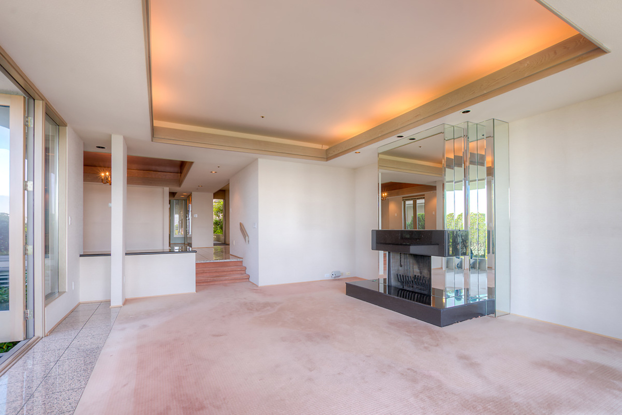 Wood burning fireplace at 2456 Bellevue Avenue, Dundarave, West Vancouver