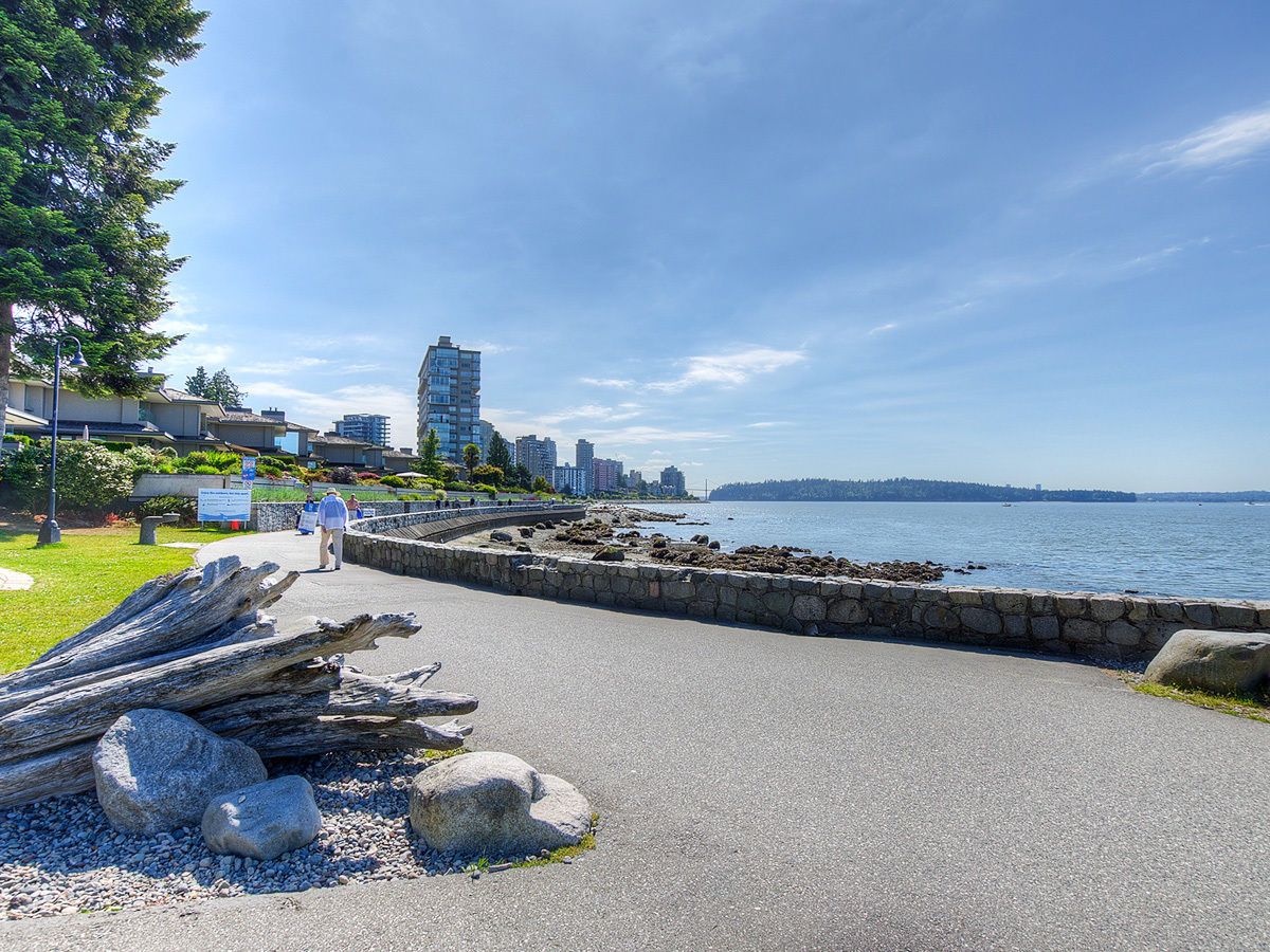 Private access to the West Van Seawall at 2456 Bellevue Avenue, Dundarave, West Vancouver