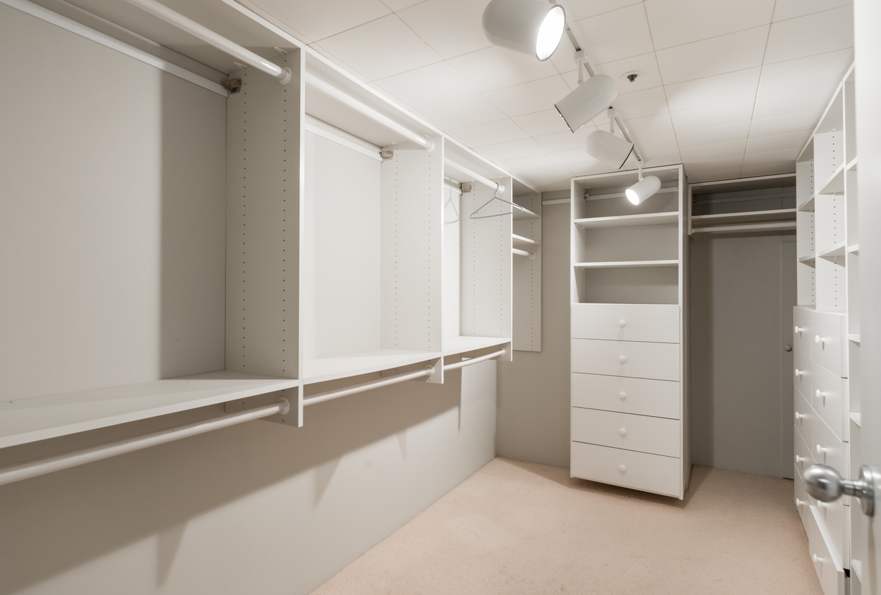 Downstairs storage/closet at 2456 Bellevue Avenue, Dundarave, West Vancouver