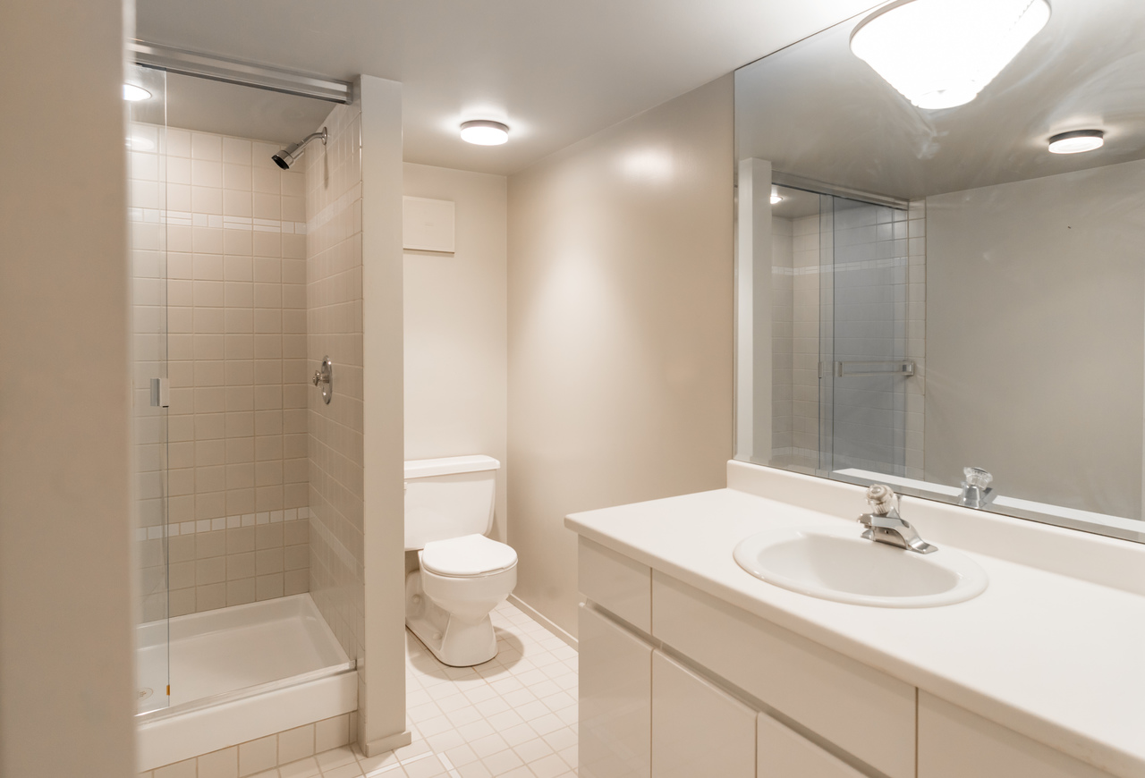 Downstairs bathroom at 2456 Bellevue Avenue, Dundarave, West Vancouver