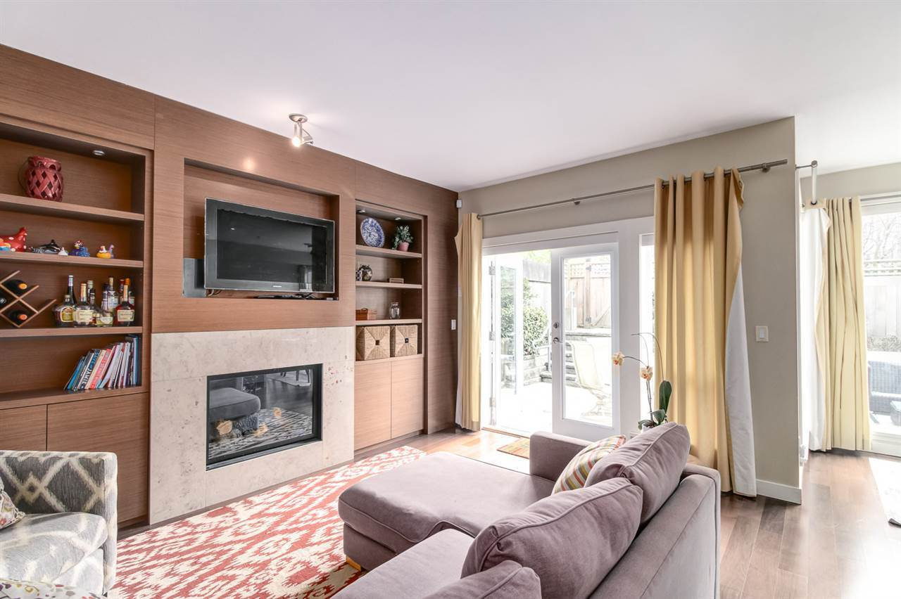 Large family room that is open to the kitchen with top of the line appliances  at 6002 Chancellor Boulevard, University VW, Vancouver West