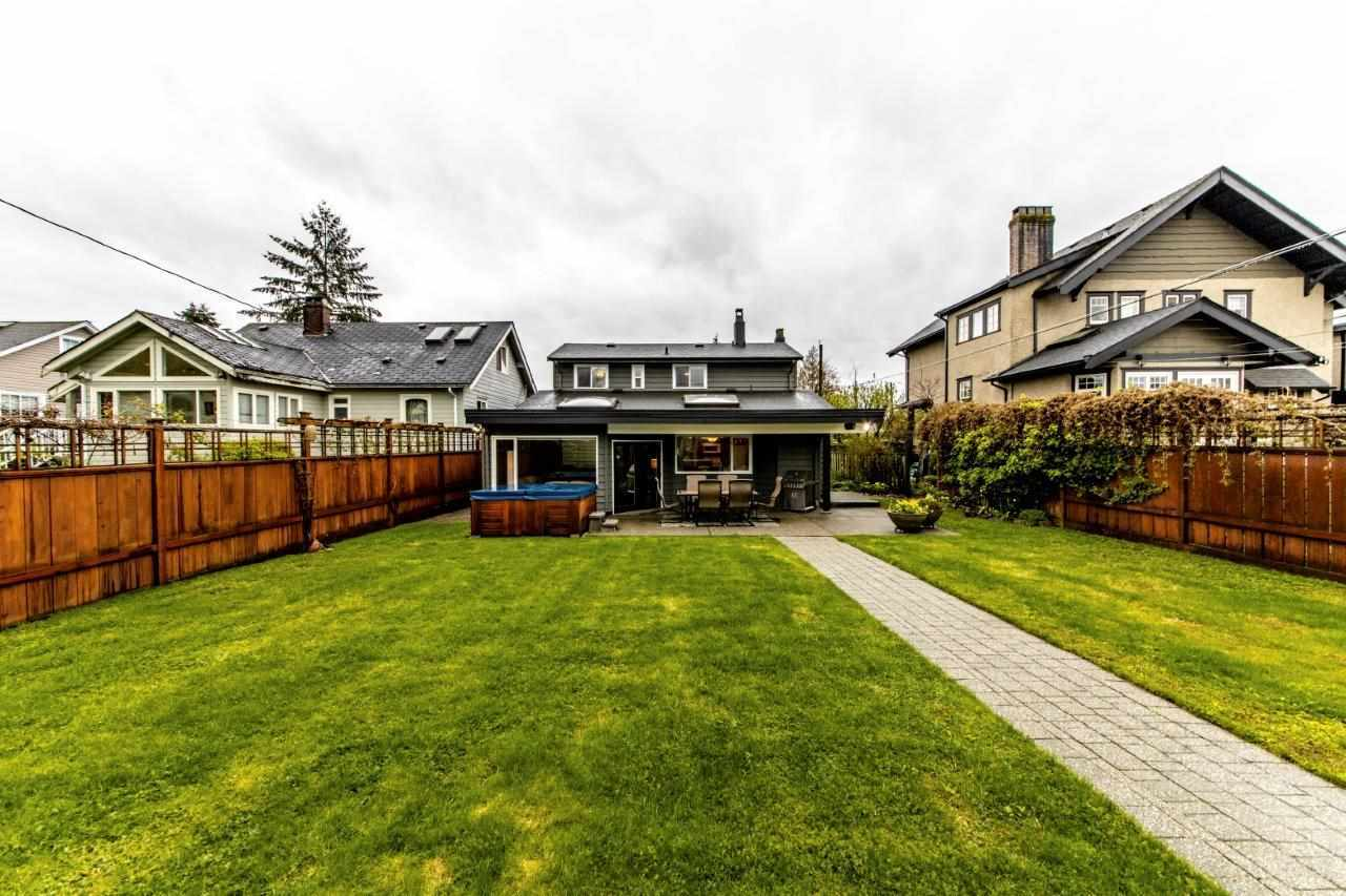 Stunning flat backyard with double car garage, lane access.  Property size over 7,300 sqft at 774 E 9th Street, Boulevard, North Vancouver