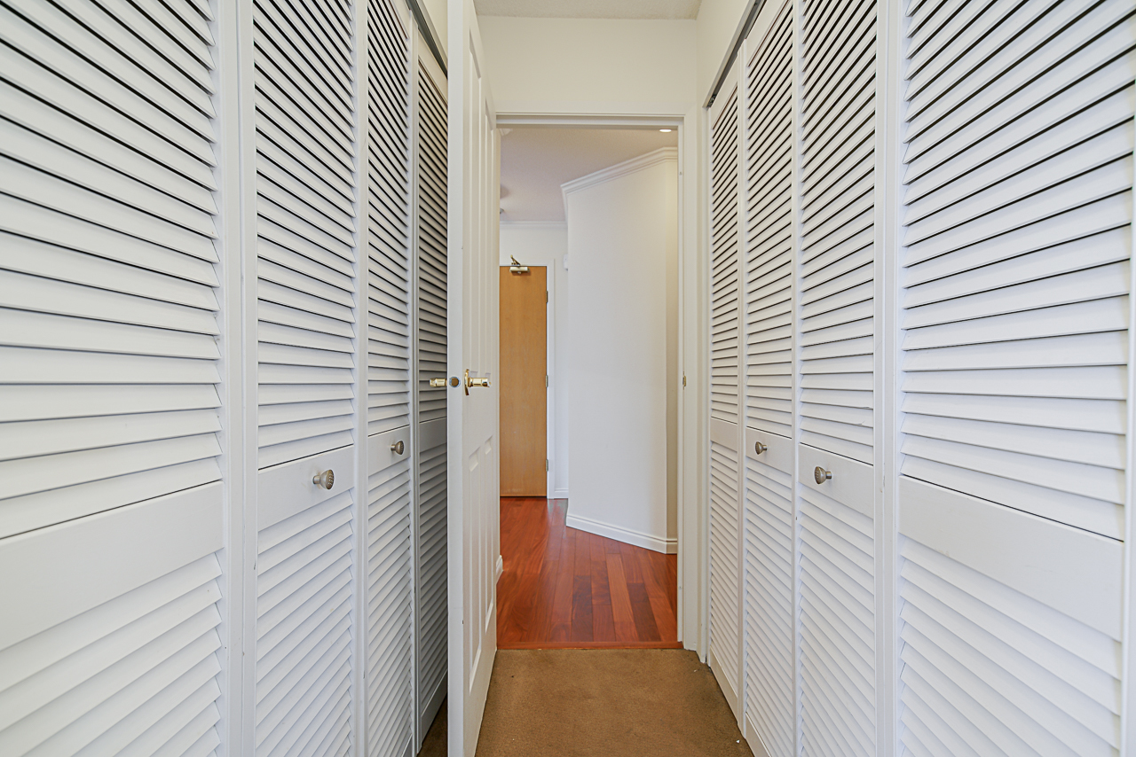 Master bedroom closets at 303 - 1010 Burnaby Street, West End VW, Vancouver West