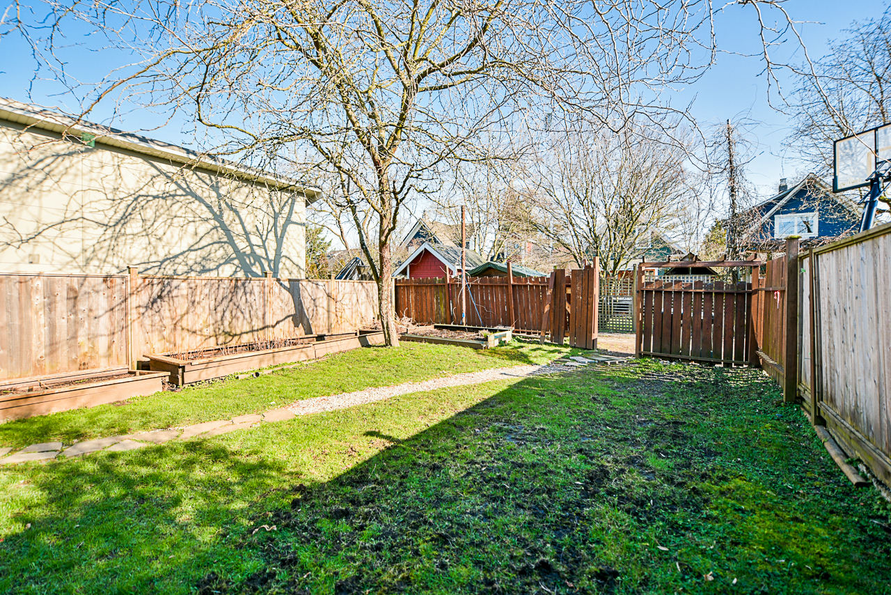 backyard at 4538 Sophia Street, Main, Vancouver East